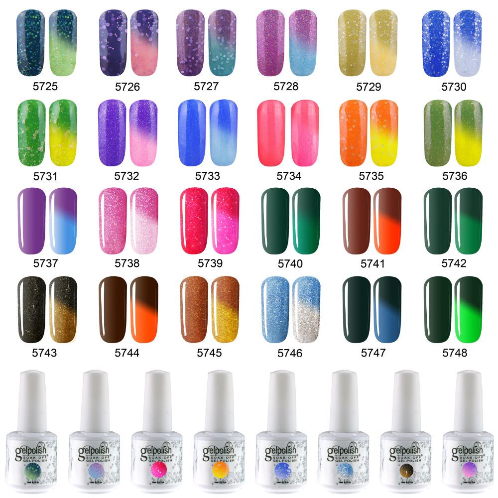 Color Changing Gel Nail Polish: Temperature Chameleon Thermal Color Change UV LED Soak Off