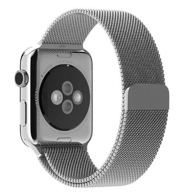 оригинальные роскошные Миланским петля ремешок & ссылка браслет из нержавеющей стали band регулируемый замок для Apple Watch 1 серия 2