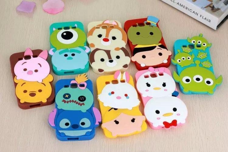 2015 Newest 3d cute cartoon sulley stitch snow white bunny rabbit soft silicone case rubber cover for samsung galaxy S3 S4 S5(China (Mainland))