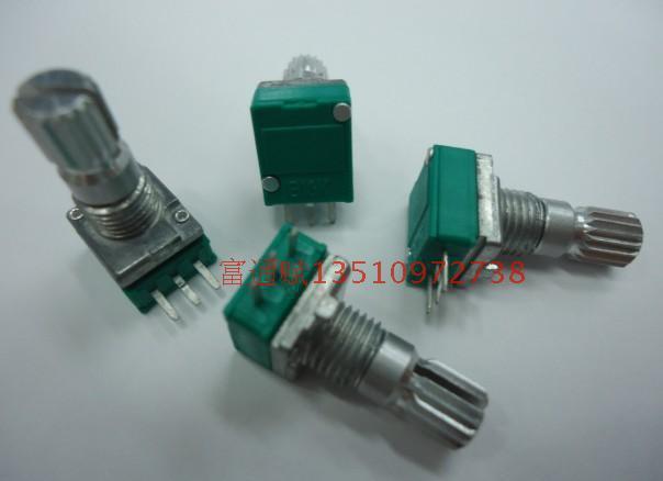 [BELLA]Crown units producing precision potentiometers Single R09-B10K-15 rachis 1k5k20K50K100K500k Spot--50pcs/lot(China (Mainland))