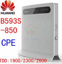 Unlocked HUAWEI B593S-850 b593 4G LTE wireless router TDD 4g wifi mobile hotspot 3g 4g mifi dongle cpe pk b683 e5172s-22 e5186