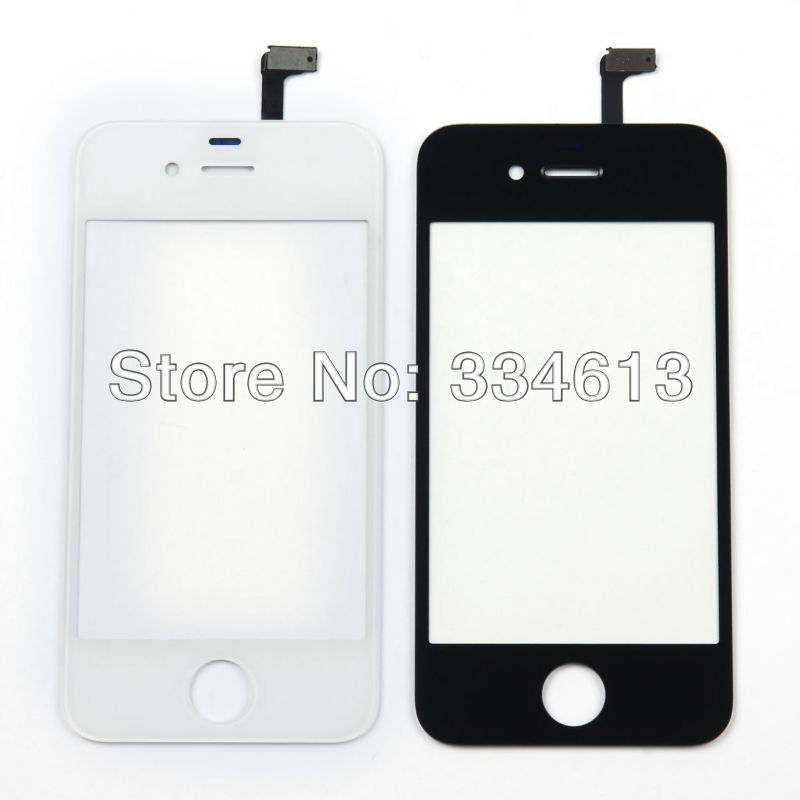 Brand New Black/White Front Touch Panel Screen Glass Digitizer Replacement Repari Parts for iphone 4s Free Shipping