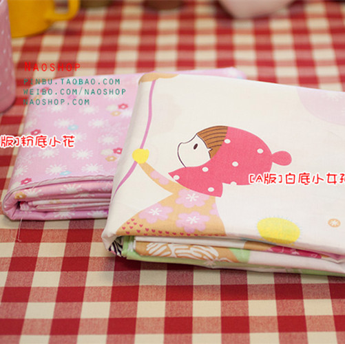 160cm*50cm Slanting 100% cotton cloth bedding handmade baby cartoon cotton cloth red hat girl fabric(China (Mainland))
