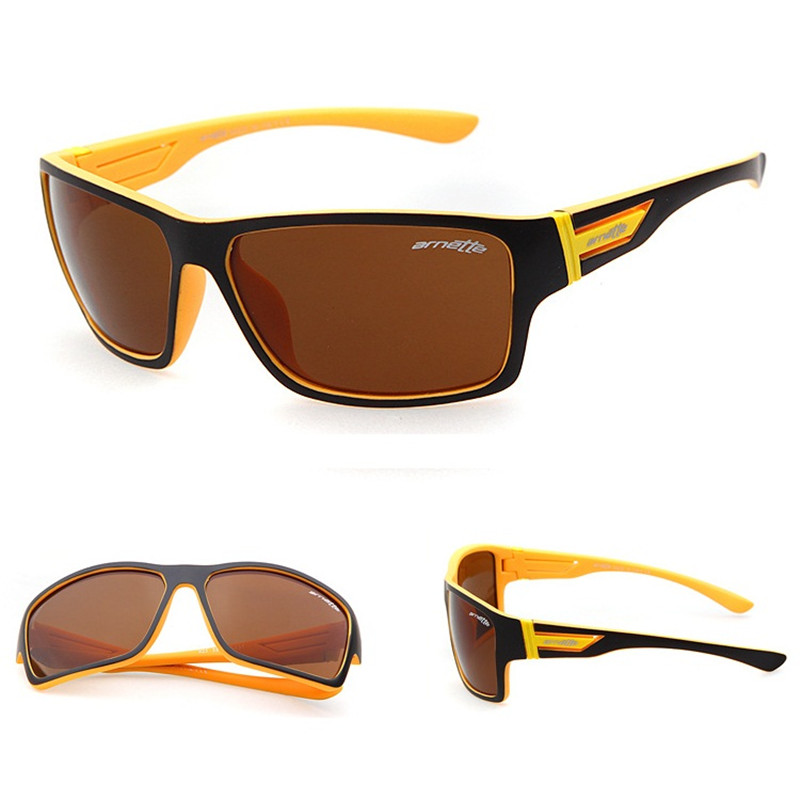 Fashion Arnette The GOLD ONE Sunglasses Men Outdoor Sports Sun Glasses with box UV400 Oculos De Sol masculino Gafas lentes(China (Mainland))