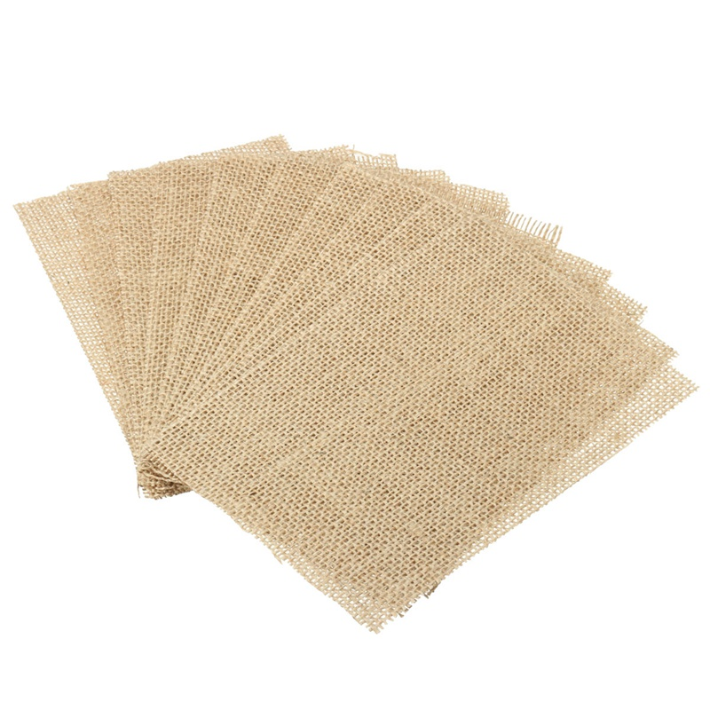 10Pcs Vintage Coasters Burlap Table Mat Simple Natural Coasters Placemat Fabric Pad Dining Table Place Mat Brown For Home Decor(China (Mainland))