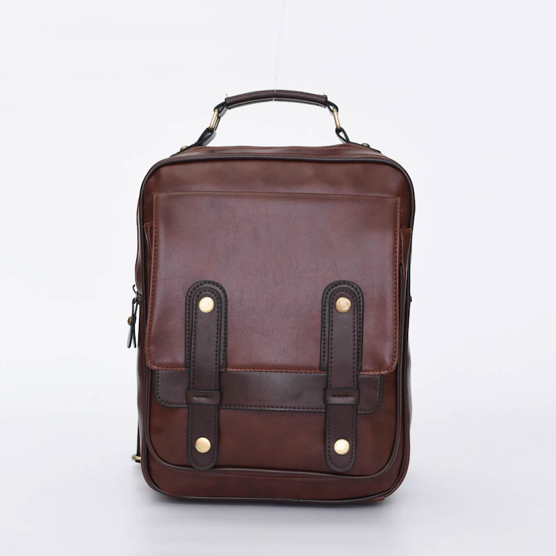 Фотография Women Backpack High Quality PU Leather Mochila Escolar School Bags For Teenagers Girls Top-handle Backpacks Herald Fashion