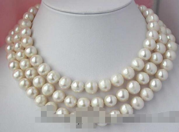 3307 round white freshwater pearl necklace<br><br>Aliexpress