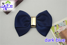 1 pair yellow bowtie fabric shoes clip glass beads shoe accessories with glue B350(China (Mainland))