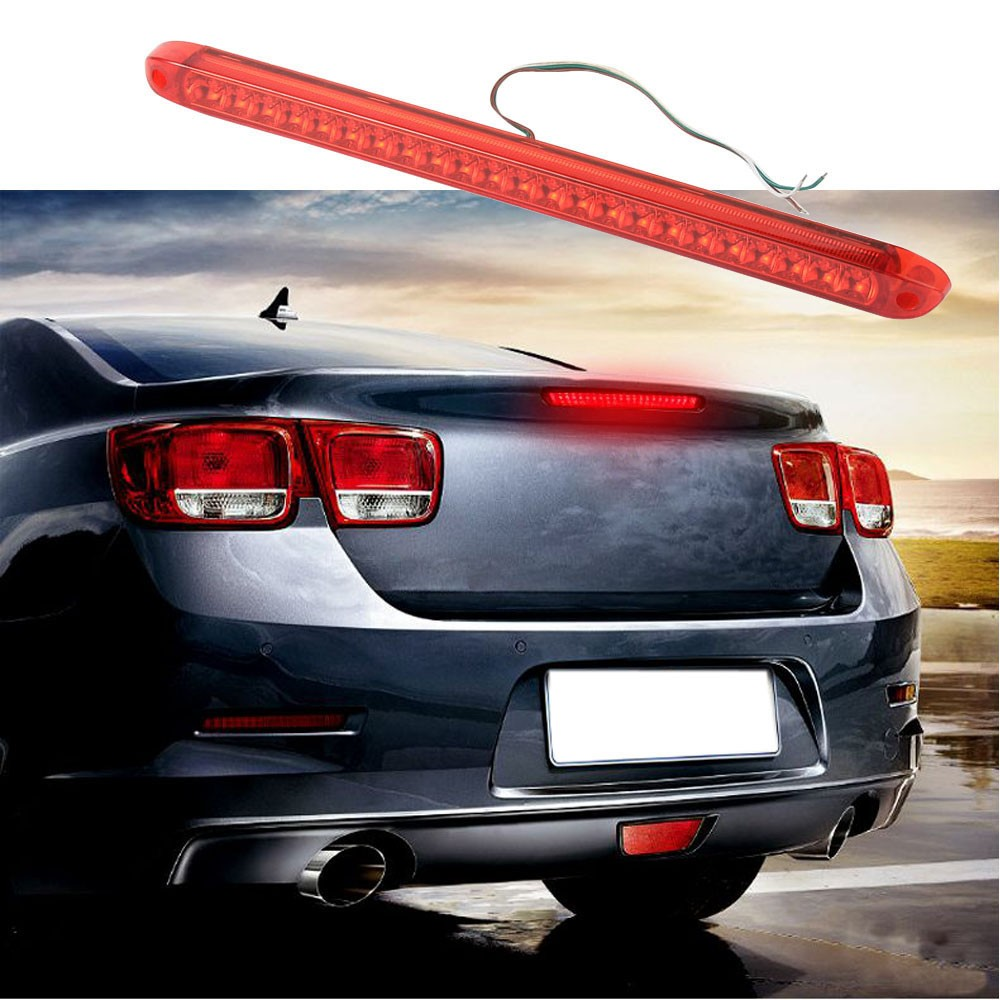 1PC Universal LED 12V Car Additional Brake Light High Mount Third 3RD Brake Stop Tail Light Lamp Red ,Yellow Color Hot Sale(China (Mainland))