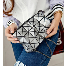 Clutches Women Geometric Clutch Bag Women Messenger Bag Patchwork Laser Clutch Purse Bag Ladies Fashion Make Up Bags(China (Mainland))