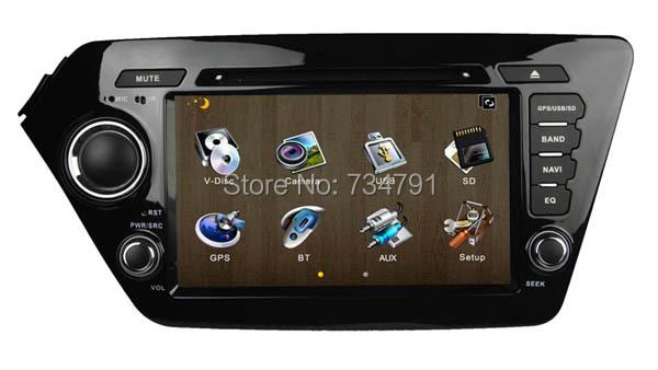 8 inch Special Car DVD Player GPS KIA K2 RIO 2011-2012 Bluetooth,Ipod,Radio,3G usb host - guangzhoug joemy auto lights store