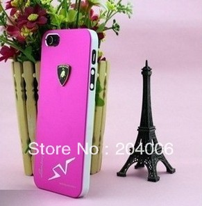 Newest Luxury POR Car Logo Aluminium Case For iPhone 4 4S,Metal Case for Iphone 4 4S,Very Beautiful,Free shipping