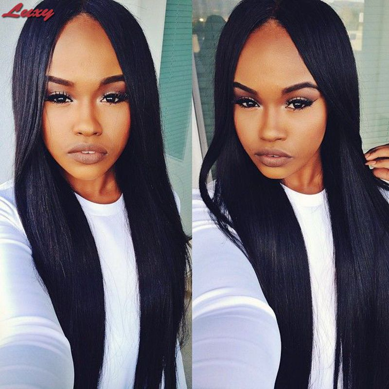 2015 New Unprocessed Virgin Full Lace Wig Glueless straight Peruvian Full Lace Human Hair Wigs For Black Women Hot Selling<br>