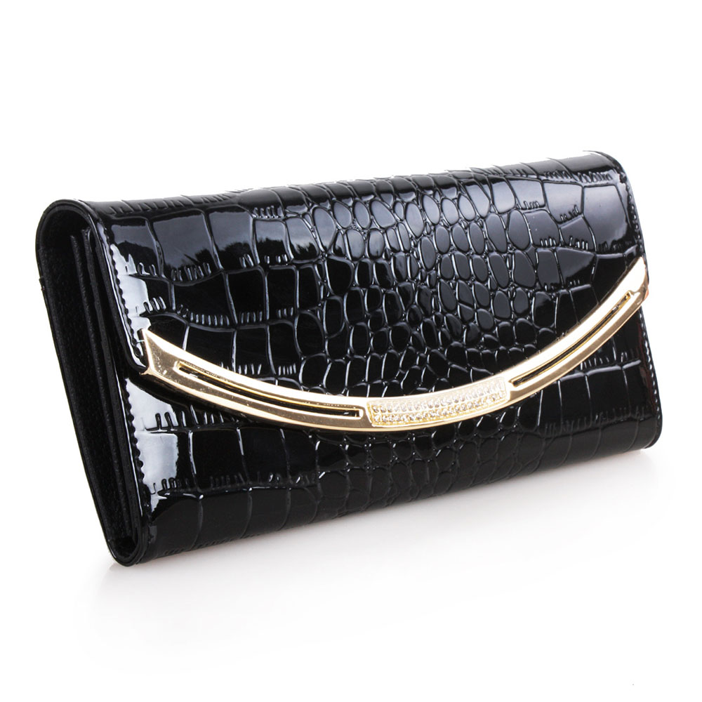Famous band designer women band wallet Genuine Leather Purse vintage style leather purse crocodile pattern Clutch women wallets(China (Mainland))