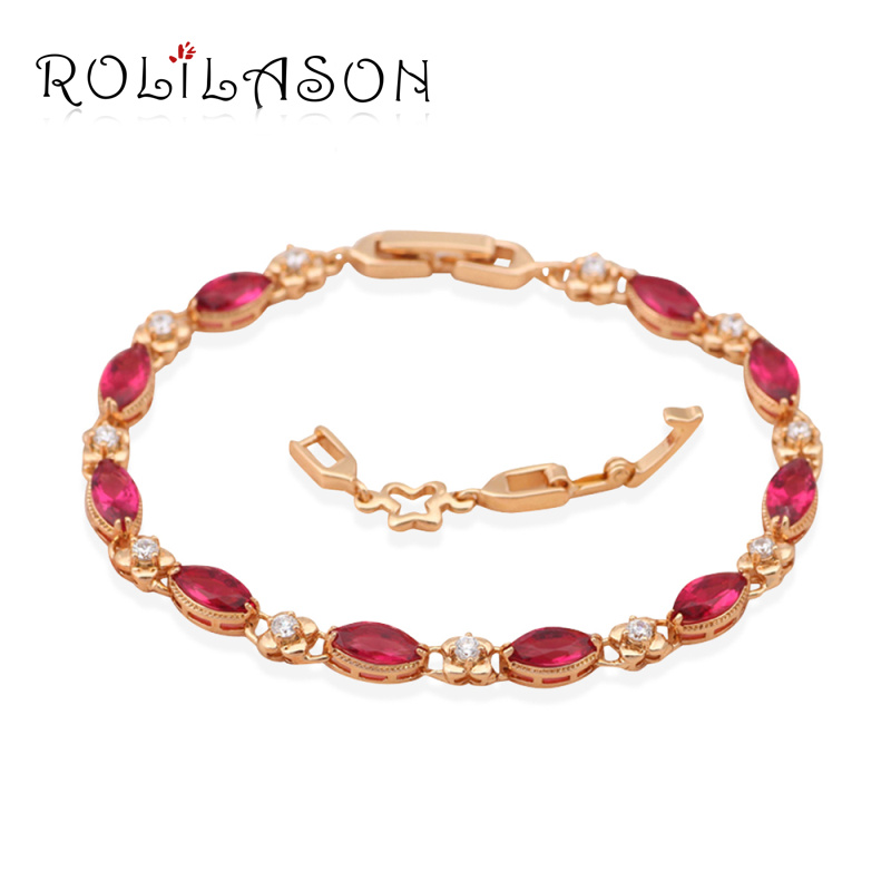 Red Design AAA Zircon & Garnet Crystal 18K k Gold Plated Bracelets Health Nickel & Lead free Fashion jewelry TB120(China (Mainland))