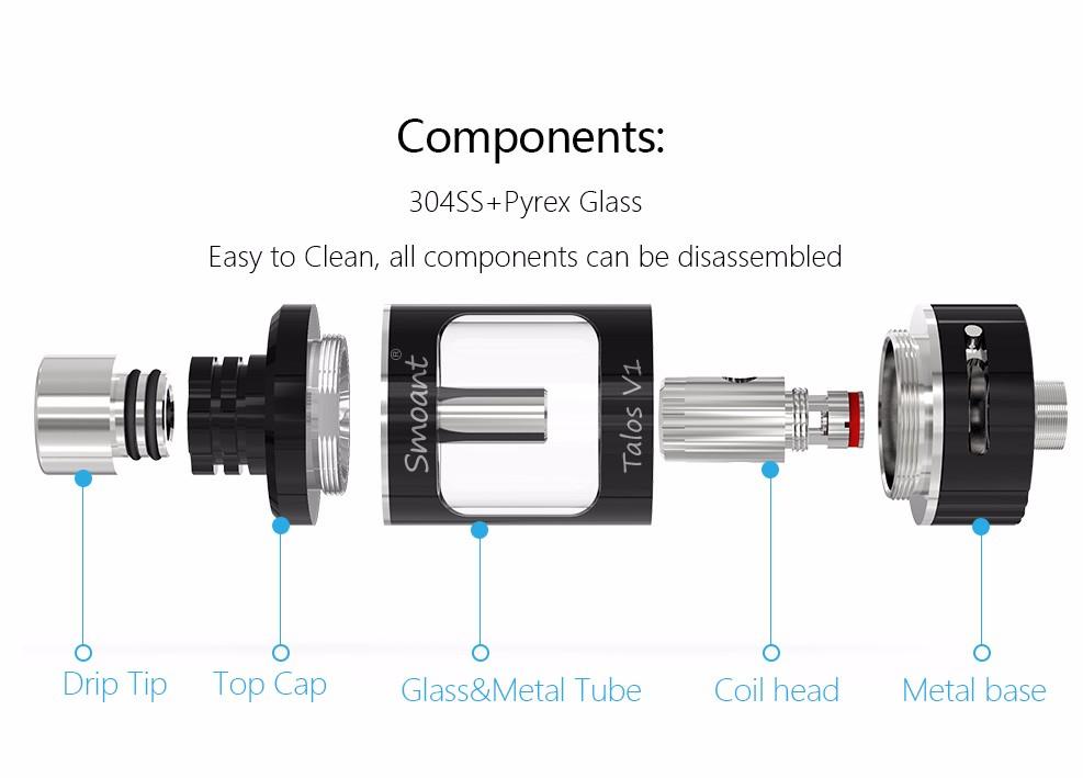 ถูก บุหรี่อิเล็กทรอนิกส์เครื่องฉีดน้ำVapeกล่องถังสมัยCloupor Vaporizerบุหรี่อิเล็กทรอนิกส์Smoant Talos V1 RBAเครื่องฉีดน้ำควันขนาดใหญ่ถังX1071