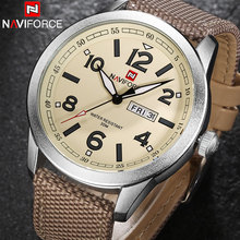 Buy men quartz watch NAVIFORCE brand fashion sport calender watches nylon strap wristwatch 2017 gift watch box 30m waterproof for $16.99 in AliExpress store