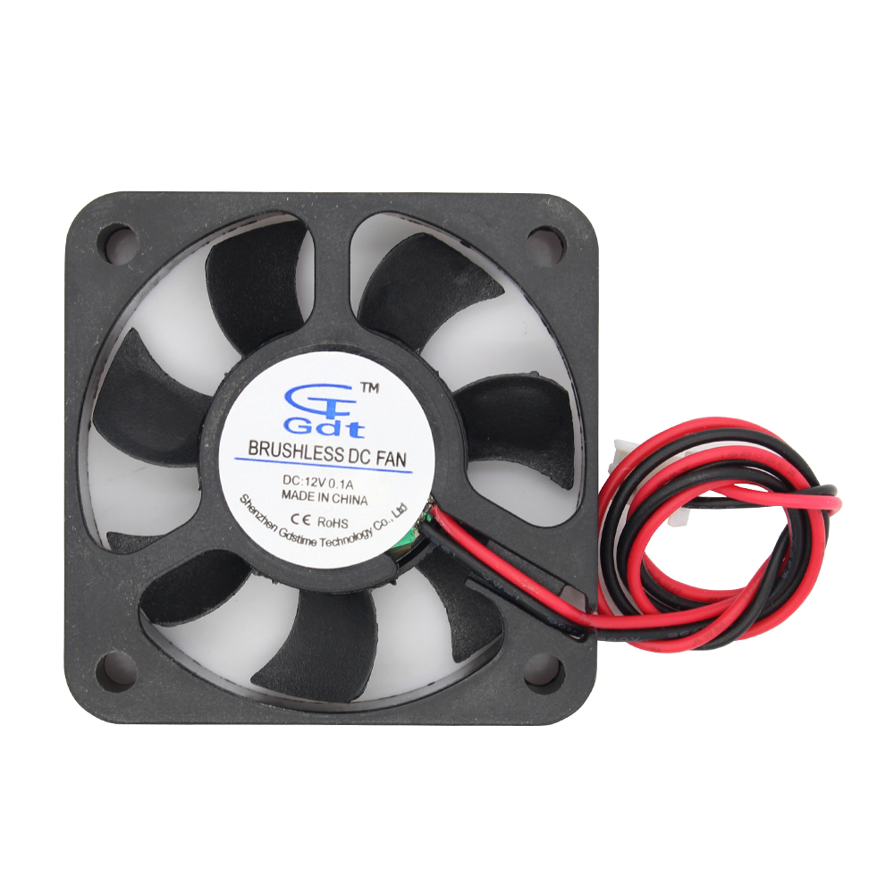 50mm 50x50x10mm New Arrival 5010 Sleeve DC 12V 2 Pin Cooling Fan 12V 2Pin Brushless Cooling