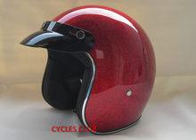 Бесплатная доставка Casco capacetes стекловолокно 3/4 открытым лицом винтажный Ретро-Шлем Женский Мужской мотоциклетный шлем(China)