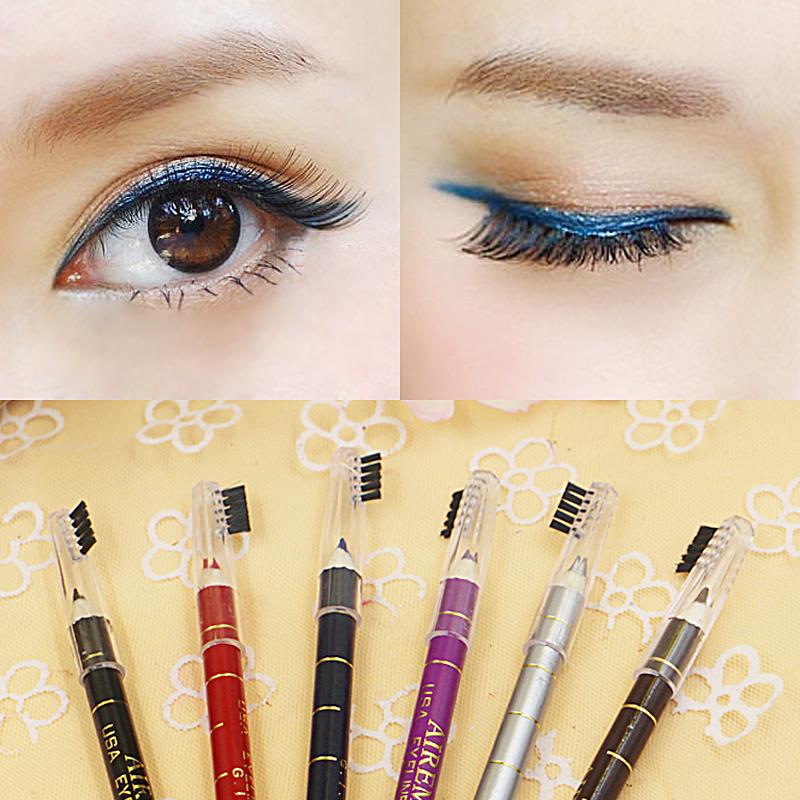 6 Colors Eye Make Eyeliner Pencil Waterproof Eyebrow Beauty Pen Liner Lip sticks Cosmetics Eyes Makeup Brush head - SUSIE WARM HOUSE store