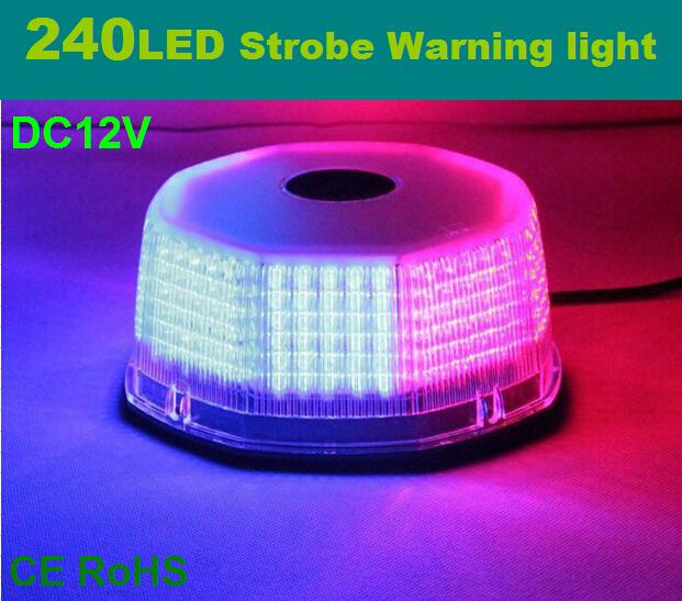 32W DC12V 240LED Waterproof car Vehicle Magnetic Mounted Police Strobe Warning light Flashing Beacon Emergency lighting lamp(China (Mainland))