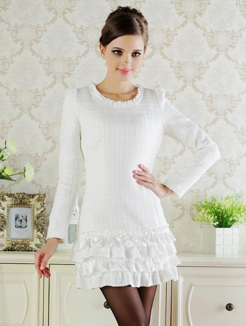 korean kawaii cute dresses cheap white boho dress branco