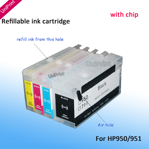Картридж с чернилами UNIPRINT hp950 951 950 950xl hp Officejet Pro 8600 8100 251dw/276dw for HP950/951 free shipping refurbished 950 print head for hp pro 8100 8600 printer