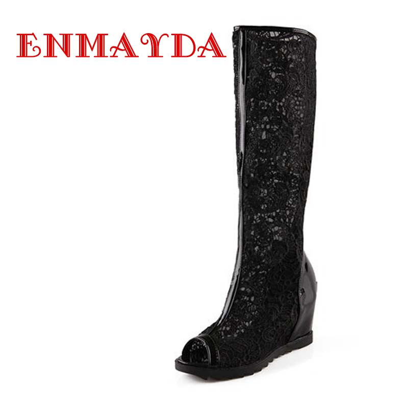enmayda 2015 platform wedges summer boots knee high summer