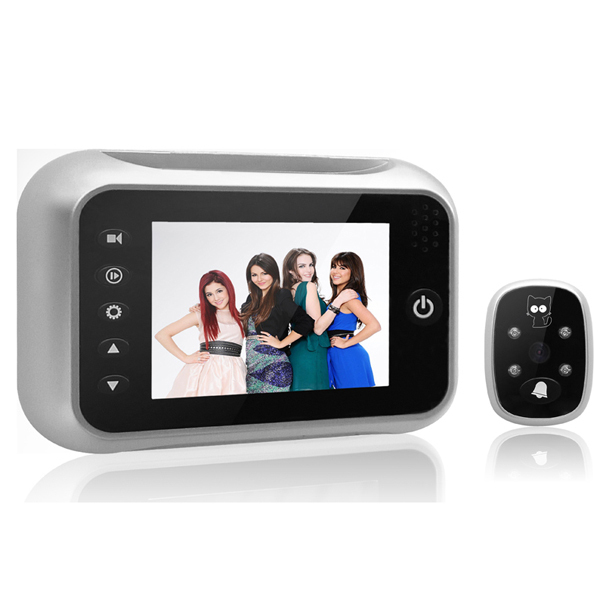 Whole&Retail 2014 New Arrival HD 3.5 Inch LCD Screen Digital Peephole Viewer ,Video Door Phone ,Doorbell(China (Mainland))