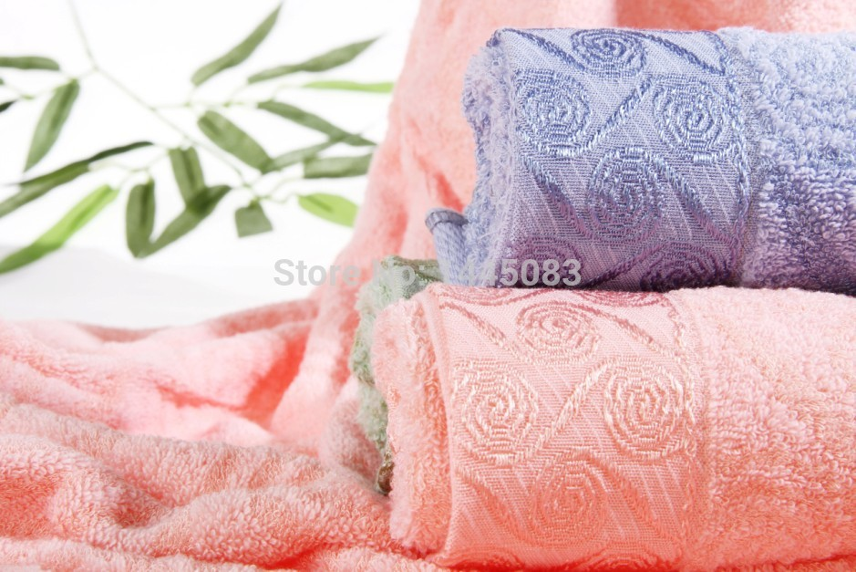 High quality brand adult bath beach quick dry sport towels cotton bamboo hand towel 76*34cm 102g/pc set(China (Mainland))