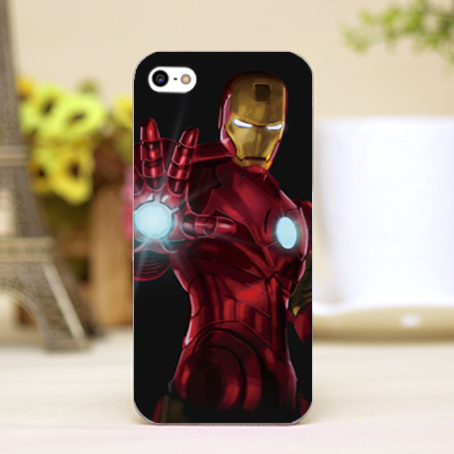 pz0056-10 marvel hero iron man Design phone transparent cover cases iphone 4 5 5c 5s 6 6plus Hard Shell - One spark shop store