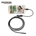 7mm lens inspection Pipe 1 5M Endoscope For Android Phone With OTG IP67 Waterproof Side mirrors