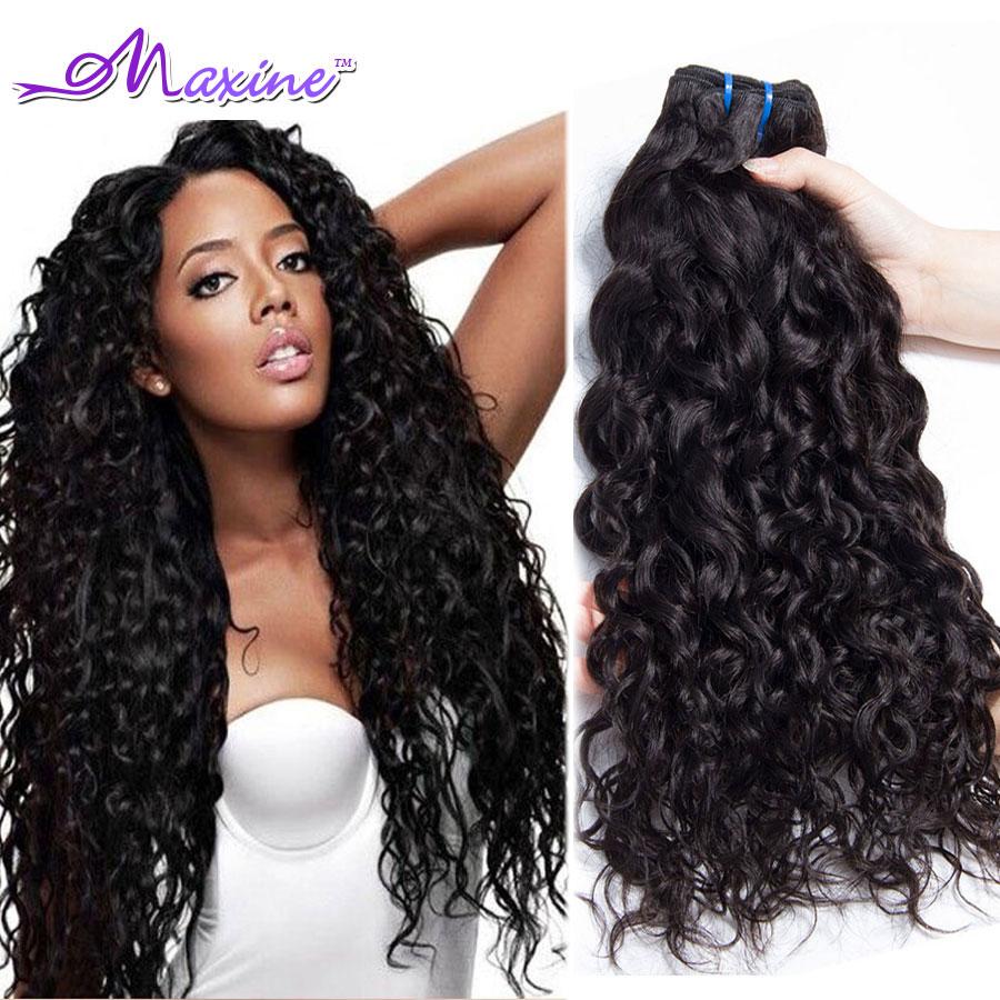 4 حزم موجة الشعر الرطب ومائج العذراء الهندي الشعر المحيط موجة ريمي الإنسان موجة الشعر الهندي عذراء الشعر موجة المياه الطبيعية أسود(China (Mainland))