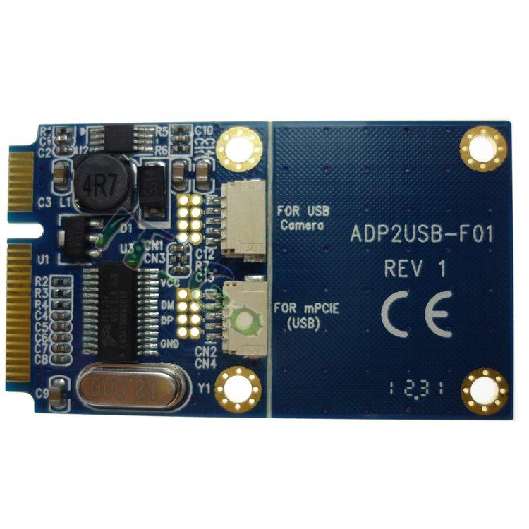 Mini PCIe(PCI-express) to Dual USB adapter/converter mini card<br><br>Aliexpress