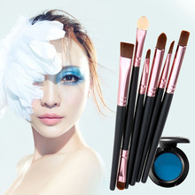 Face Makeup Brushes Cosmetic Set Eyeshadow Eyeliner Nose Smudge Tool 6Pcs ARE4