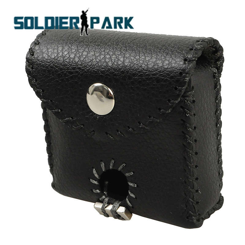 Genuine Leather Portable Molle Slingshot Ammo Pouch Stainless Steel Balls Holder Case Mud Eggs Bag Bullet Holster for Shooting@(China (Mainland))