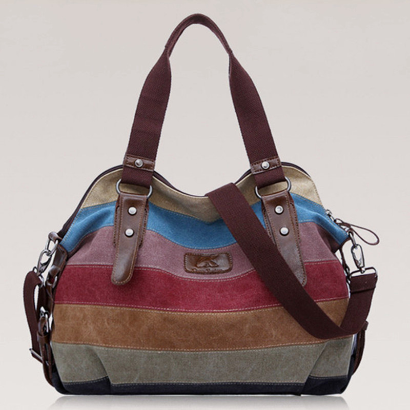 Korean women casual stripe canvas handbags shoulder bags,designer messenger tote bags, bolsos, sac a main femme de marque<br><br>Aliexpress