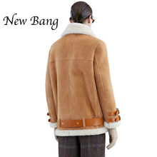 Women Real Rabbit Fur Faux Leather Berber Patchwork Short Suede Shearling Coats  Zipper Clothing Vintage Motorcycle Jacket(China (Mainland))