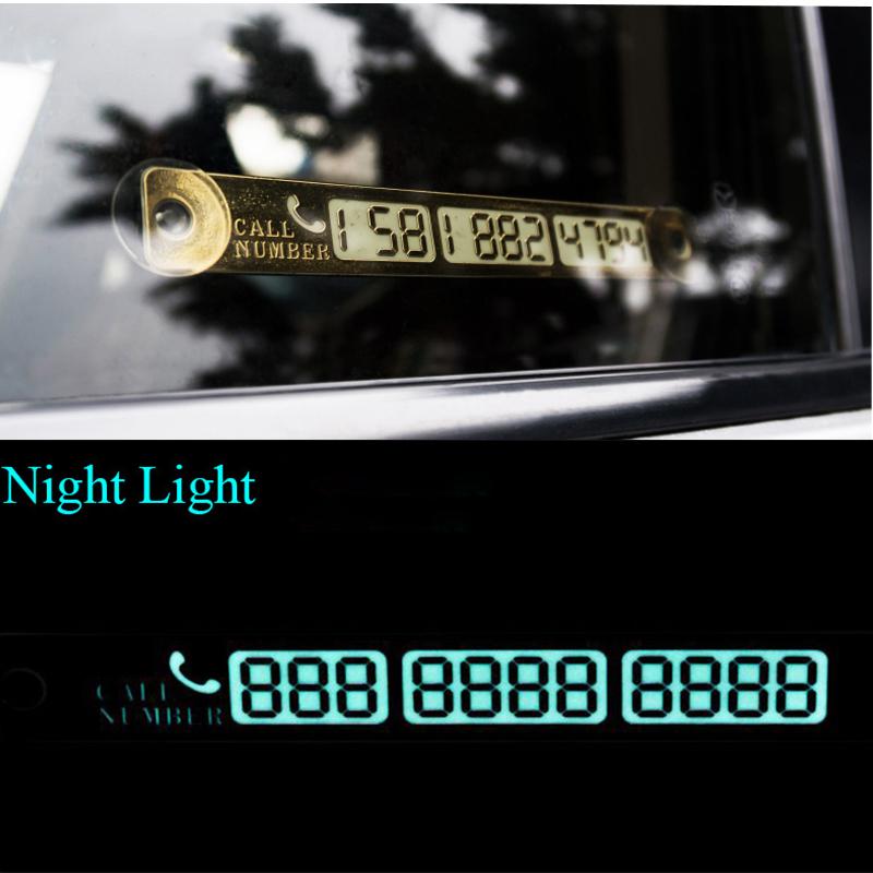 15*2cm Telephone Number Card Temporary Car Parking Card Notification Night Luminous Sucker Plate Phone Number Card(China (Mainland))