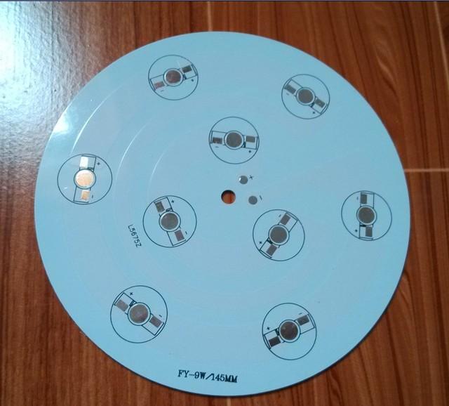 9w  145mm  LED PCB,for 9pcs LEDs,  base, Aluminum PCB, LED DIY Printed Circuit Boards, high power 9W PCB