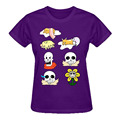 RTTMALL Woman 2017 European Minimalist Character Print T Shirt Short Sleeve Cotton gudetama undertale stickers Ladies