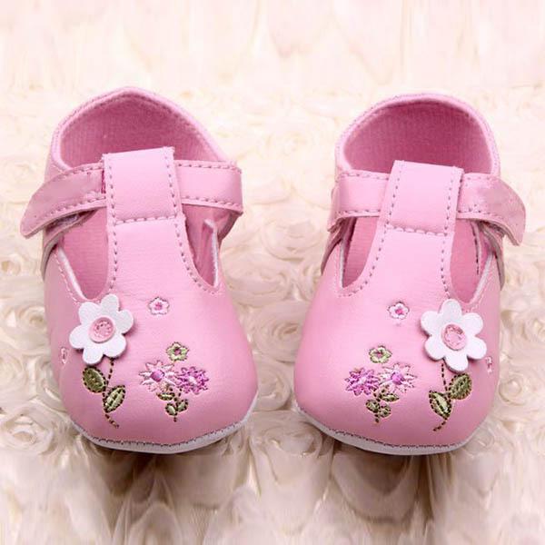 Baby Child Girl PU Leather Flower Crib Shoes Soft Bottom Anti Slip Toddler - Always Fashion Shop store