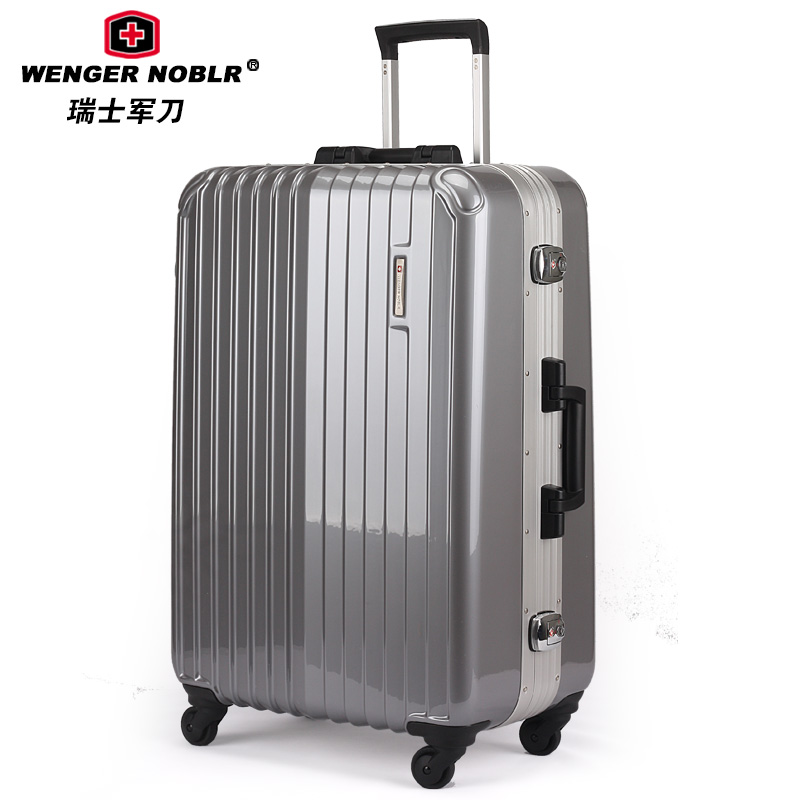 Swiss army knife pure pc luggage trolley travel bag female universal wheels aluminum frame - Volvo Co., Ltd. Shenzhen store