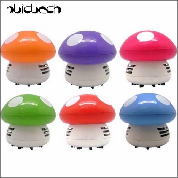 by dhl or ems 100 pieces Mini Cartoon Mushroom Vacuum Cleaner Colorful For Desk Chair Cleaning(China (Mainland))