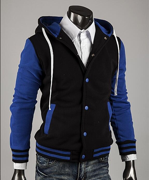 Free Shipping fashion mens hoodies and sweatshirts winter men's winter sport hoodies cotton coats Male Hooded Jackets(China (Mainland))