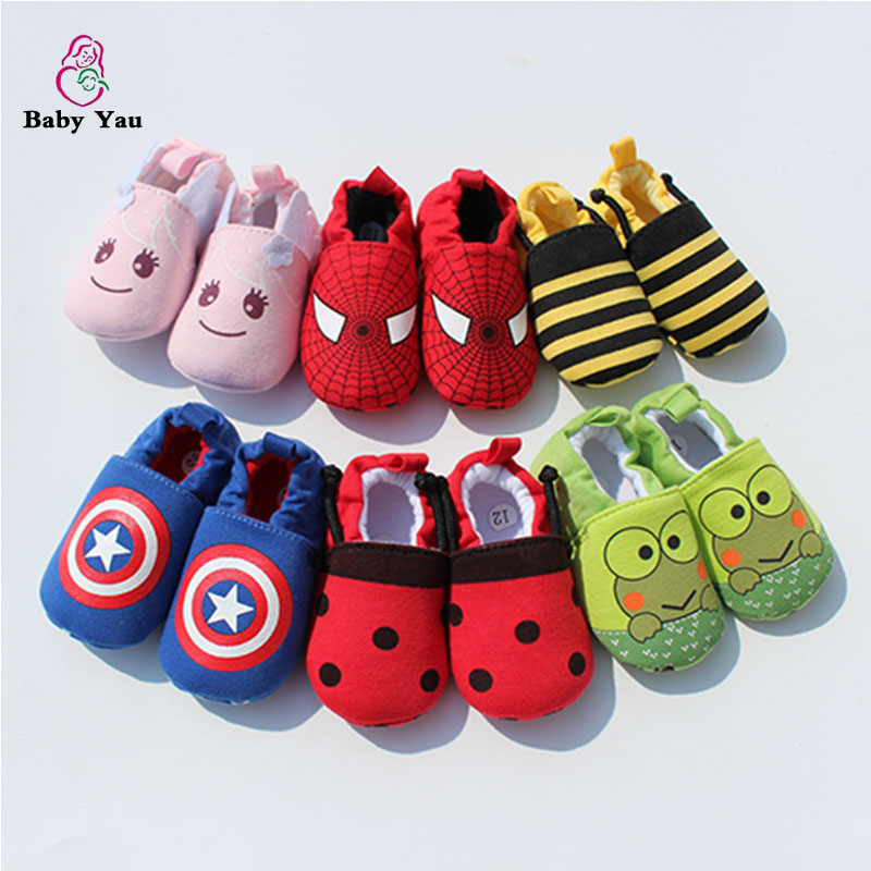 Cute Novelty Newborn Baby Boys Infant Shoes Autumn Soft Cotton Baby First Walker Baby Shoes Boy Toddler Keep Warm Thick Shoes(China (Mainland))