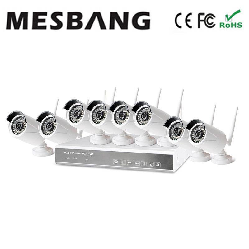 Mesbang 960P 8ch wireless security camera system no need cable east install build in 1TB HDD free shipping(China (Mainland))