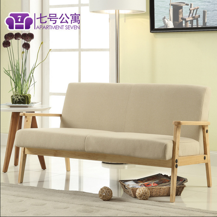 nordic style furniture setting room solid wood sofa coffee