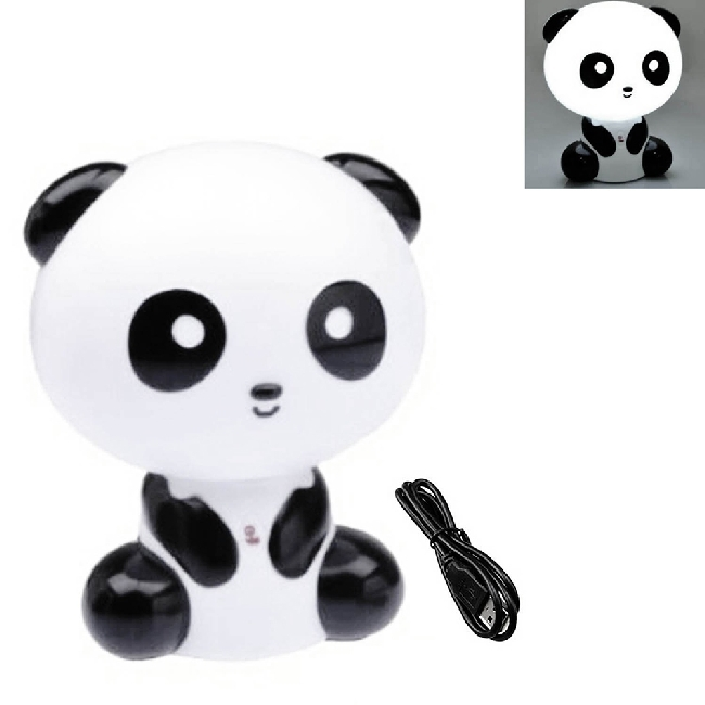 US Plug Panda Night Light Cute Animal Table Desk Lamp Home Decor Lights(China (Mainland))