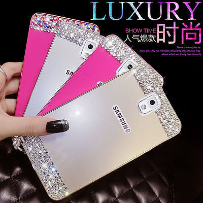 Pen & Bling crystal Metal Bumper Frame & PC Back Cover For Samsung Galaxy note 4 3 S6 G9200 S5 & S6 Edge G9250 rhinestone case(China (Mainland))